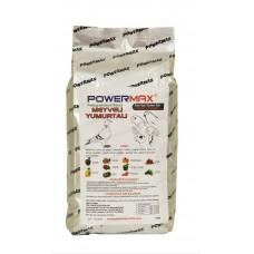 Powermax MEYVELİ YUMURTALI mama 20 kg ( mükemmel içerik)