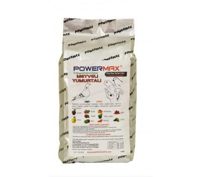 Powermax MEYVELİ YUMURTALI mama 1 kg ( mükemmel içerik)